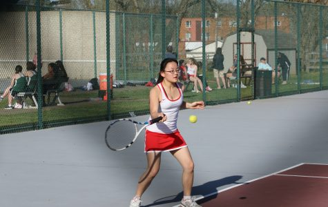 Violett excels in tennis, academics