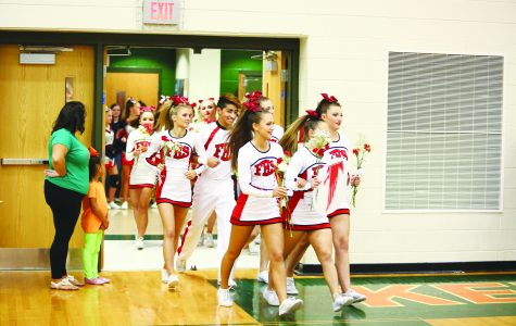 Cheerleading tumbles into third place
