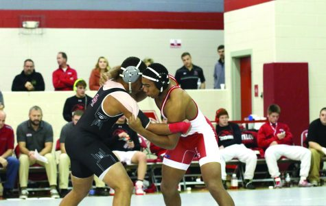 Wrestling places second at conference meet