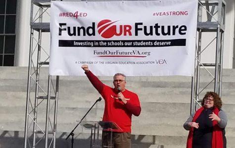Virginia Teachers Go Red for Ed in Richmond