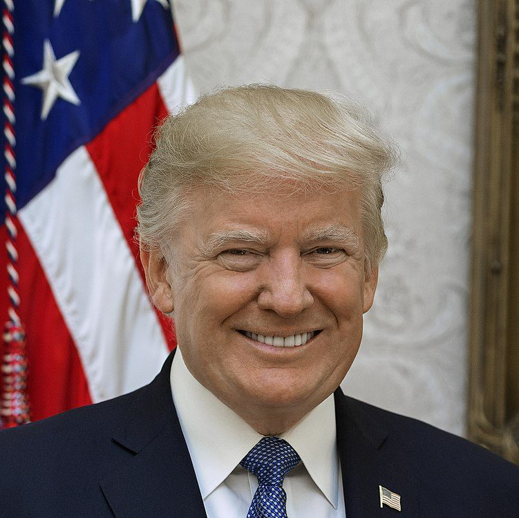This is the official White House portrait of President Donald Trump.