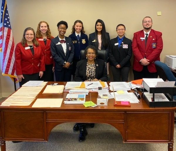 McKenzie Hurley traveled to the capital to advocate for Career and Technical Education.