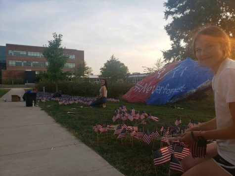 Celeste Pollack and other YAF members work to commemorate all of those who lost their lives during 9/11.