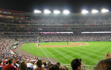 The Nationals Stadium during a Nats games in October on the 31st.