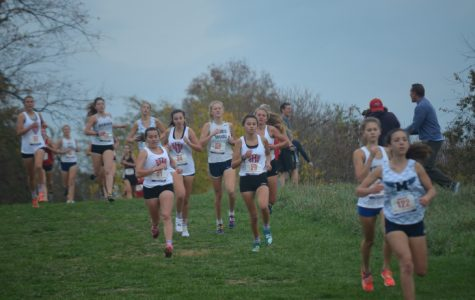 The girls' compete at the Regional Race at John Handley High School.