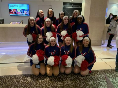 The cheerleaders had the opportunity to cheer down the streets of London, sightseeing while performing at the same time.