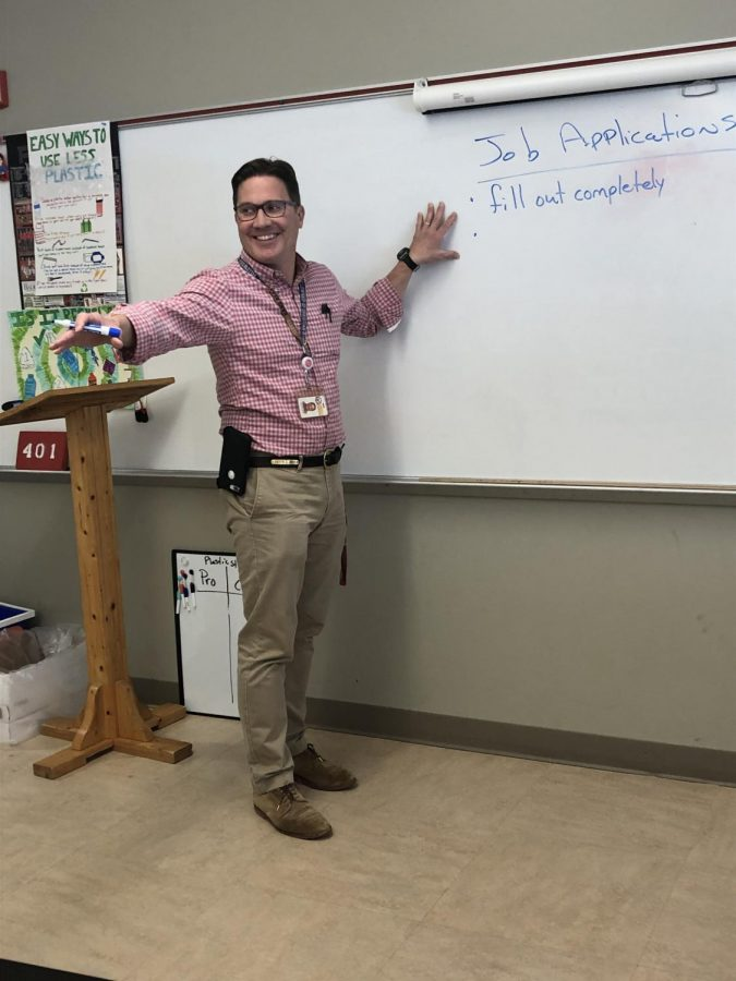 Quentin Jones hopes to set a good example for teachers and students as teacher of the year.