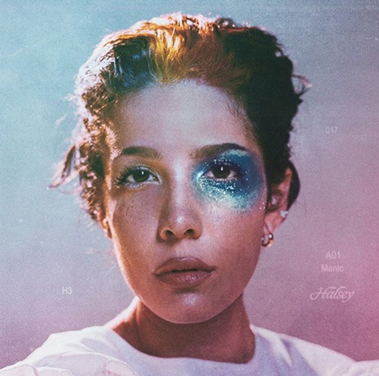 The cover of Hasley's new album was this distinct and colorful image of herself.
