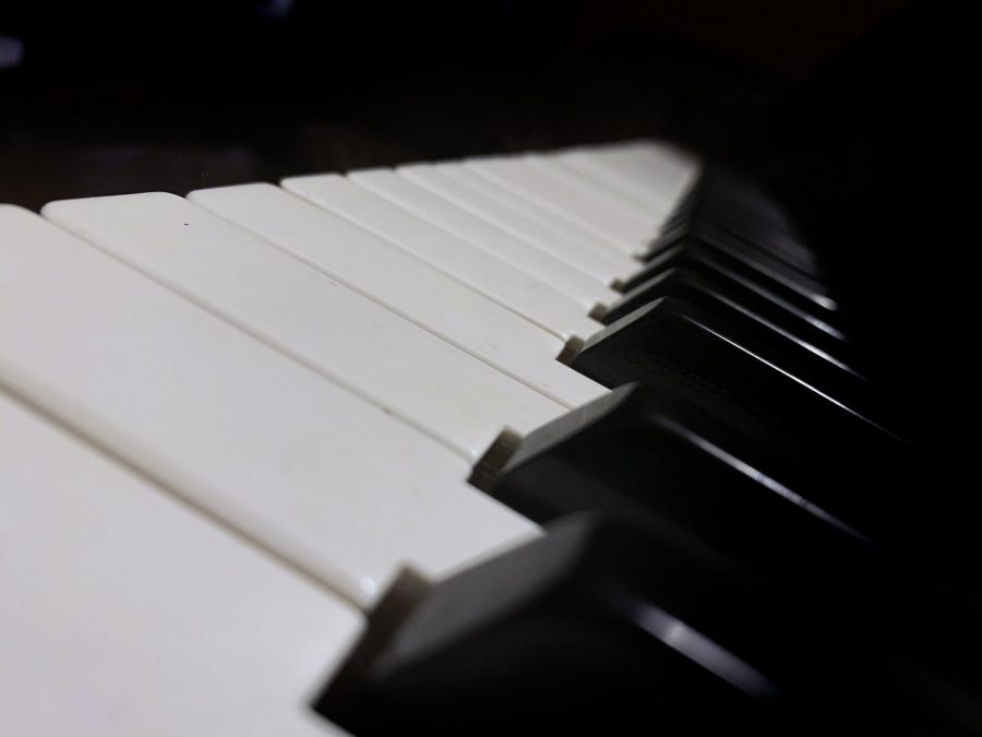 I was sitting by the piano and decided to make a picture out of something I see all the time.