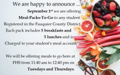 Meal Packs for Virtual Students Information