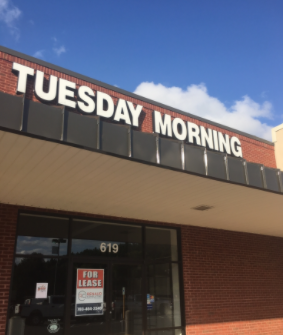 Tuesday Morning for lease after it had to close because of the COVID-19 pandemic.