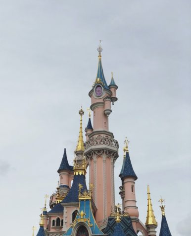 Disneyland castle in Paris, Chessy, France.