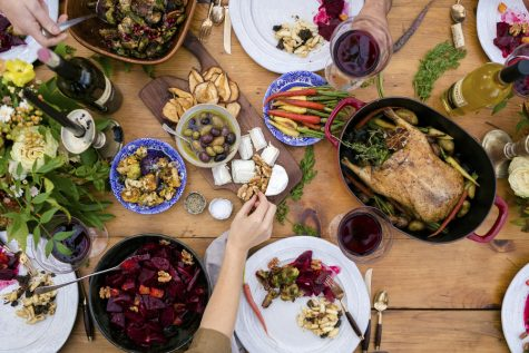Familiar traditions like the crowded Thanksgiving table won
