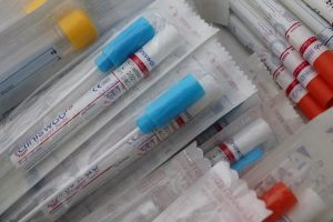 Similar to flu swabs, COVID-19 testing uses packaged items like this to detect the virus.