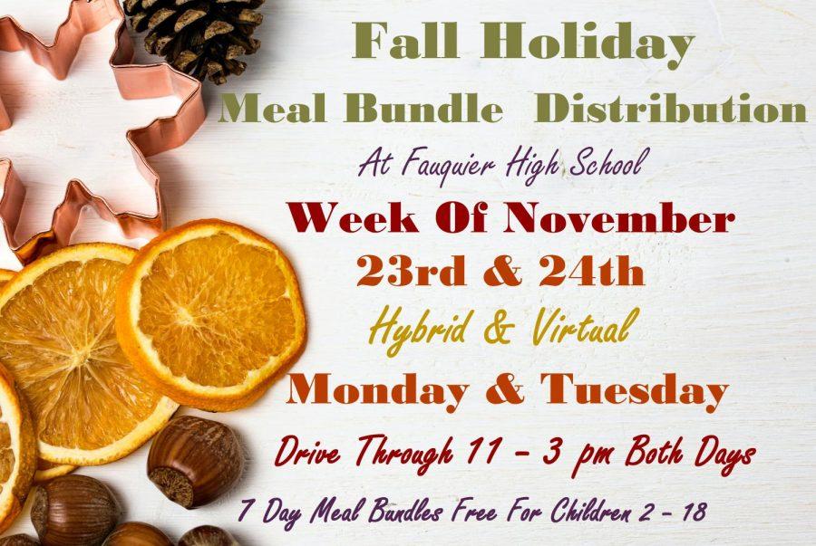 Information for Next Week's Meal Bundle Distribution