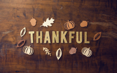 With the season of giving coming up, students recognize the importance of being grateful.
