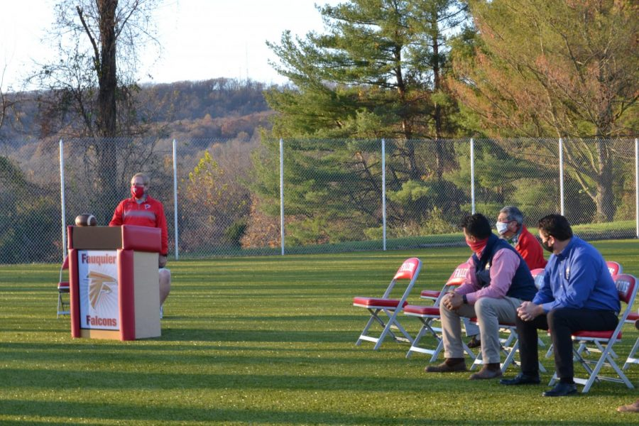 Behind the Falcon Field, The Falcon Sports Spot, a new all-season turf field, opened last Friday.