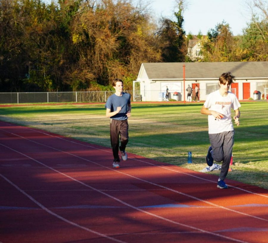 Fauquier+High+School+athletes+running+on+the+track.