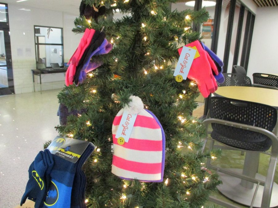To gain more attraction to the winter gear drive, FHS has also decorated a Christmas tree with example items being collected.