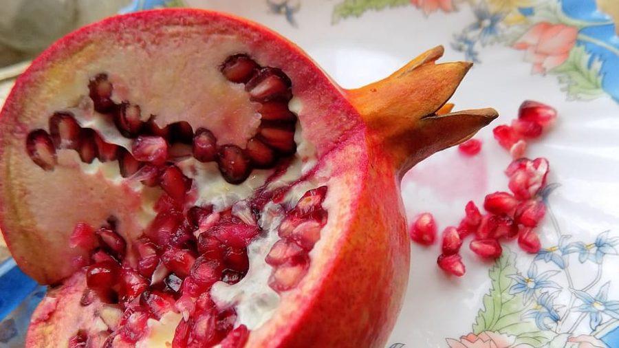 Vegetarian Pomegranate Salad with Cider Dressing