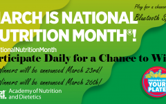 The FHS Falcon Cafe is recognizing National Nutrition Month by offering a prize for stopping by for breakfast and lunch.