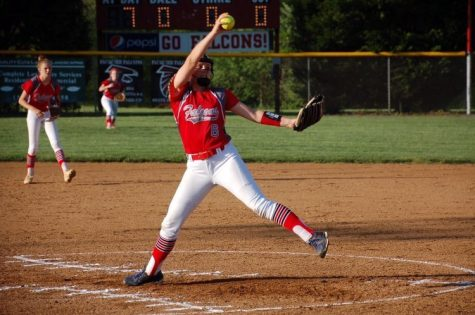 Senior Meghan Harrington has been playing softball since she was five. She