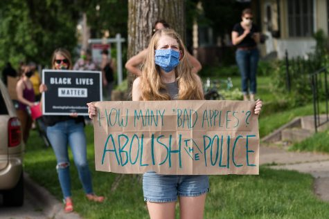 After Georges Floyds death, protesters flooded 38th Street in Minneapolis.