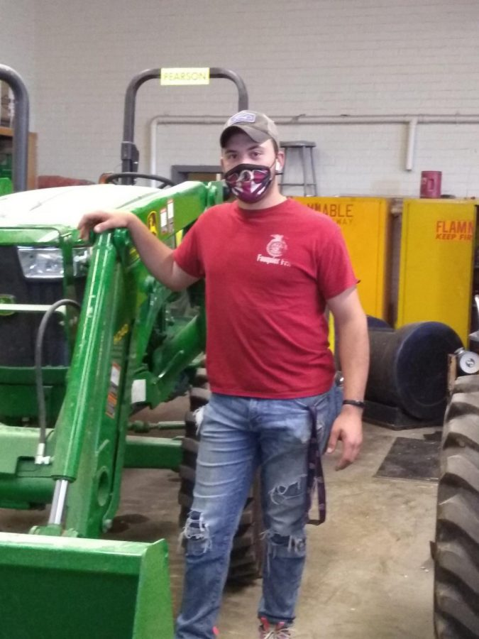 Damian placed second in the Virginia State Tractor Driving Contest.