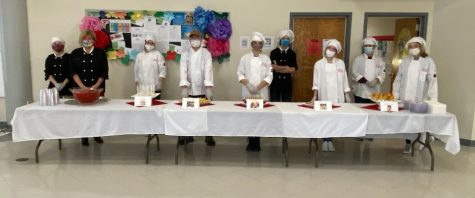 Posing for a quick picture, the culinary students catered the FCPS Teacher and Principal of the Year Award Ceremony.