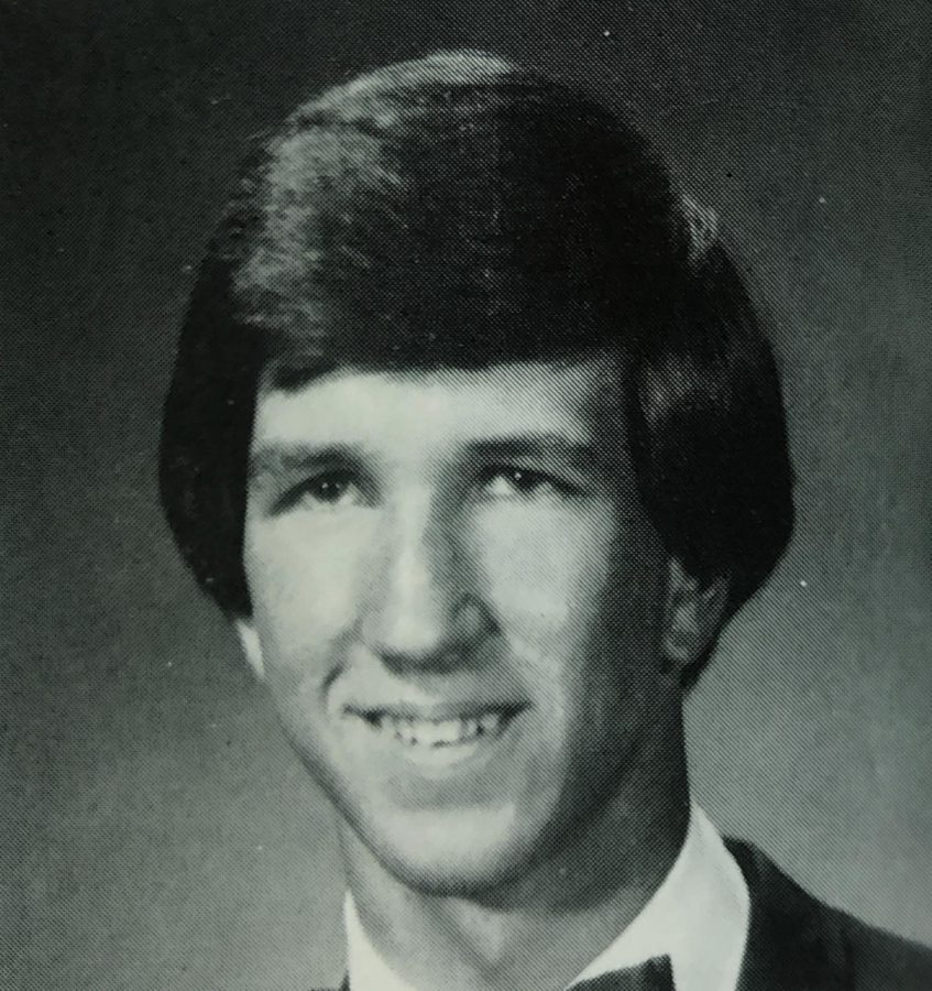 A 1981 senior picture from the Eyrie. Holmes is an FHS alumni.