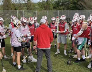 The boys lacrosse team is very committed to their season performance with practices even taking place on some Saturdays.