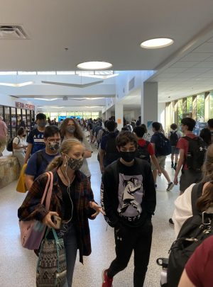After the bell, students head to their third block class or the lunchroom.