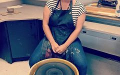 Working in a pottery studio, Sarah Ewing likes to devote time to art of all mediums.