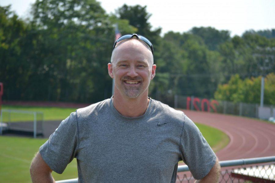 Embracing the change of scenery, Mark Scott enjoys teaching gym.
