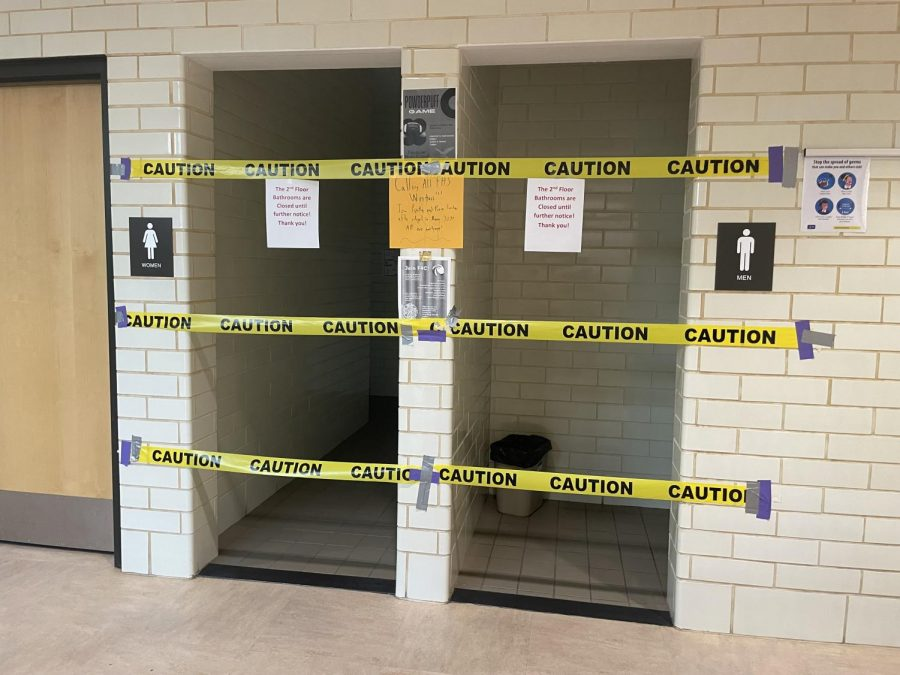 The+bathrooms+on+the+second%2C+third+and+fourth+floors+in+the+main+building+are+shut+off+to+students.