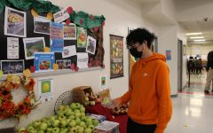 With the new FCPS1 initiative through FRESH, students had the option to pick up fresh fruits in the cafeteria.